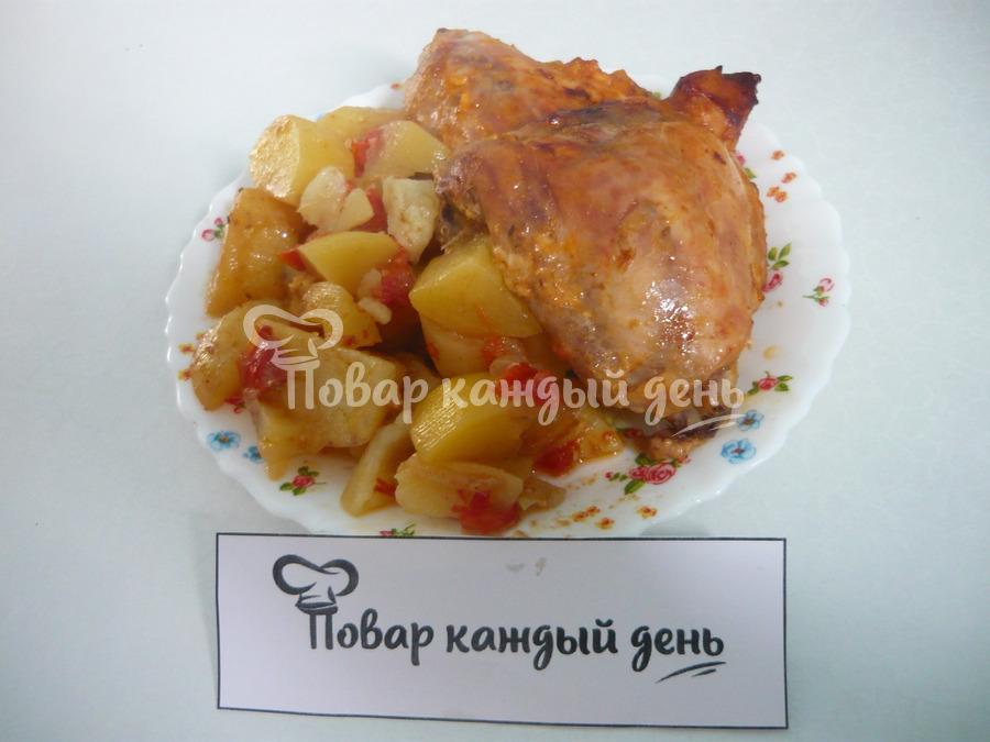 курица с картошкой в пакете для запекания